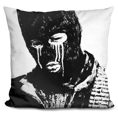 Crying Terrorist Ski Mask Throw Pillow