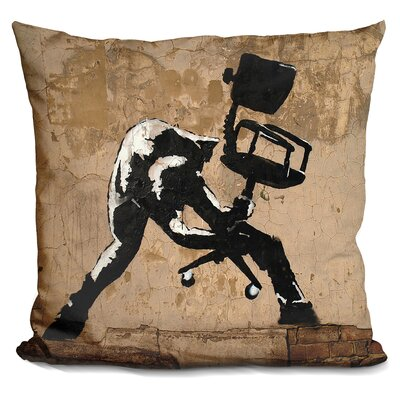 London Calling Banksy Throw Pillow