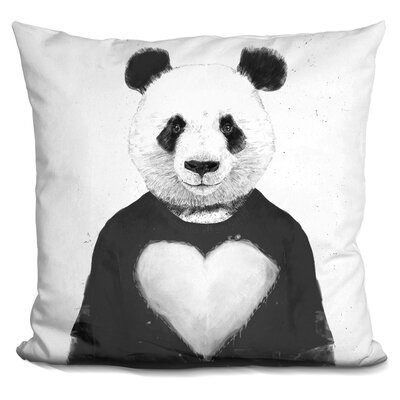 Lovely Panda Throw Pillow