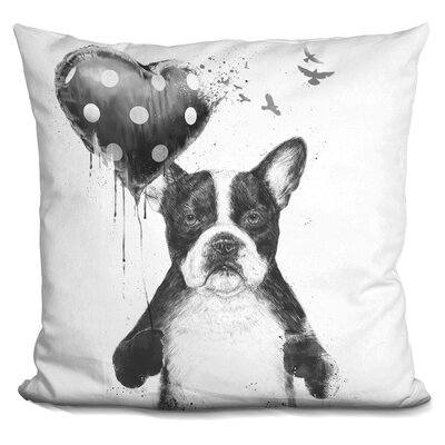 Hartzell My Heart Goes Boom Throw Pillow