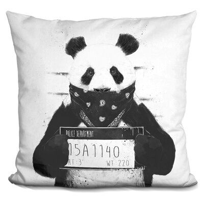 Kershaw Bad Panda Throw Pillow