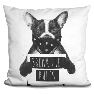 Dog Throw Pillow Color: White