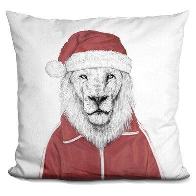 Santa Lion Throw Pillow