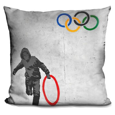 Stolen Olympic Ring Throw Pillow