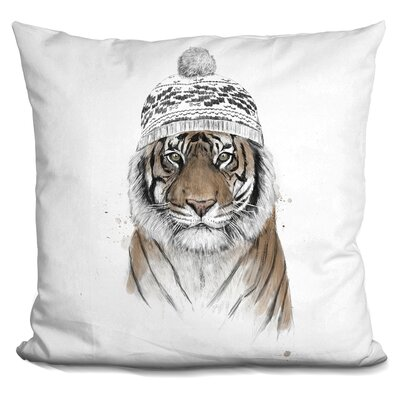 Pawlak Siberian Tiger Throw Pillow Color: Brown/White