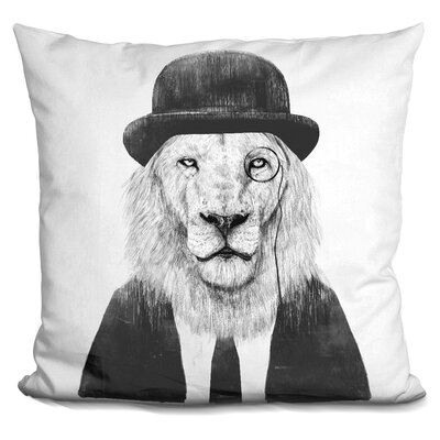 Pawlowski Sir Lion Throw Pillow