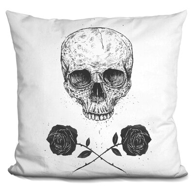 Skull N Roses Throw Pillow