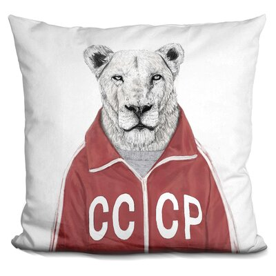 Soviet Lion Throw Pillow