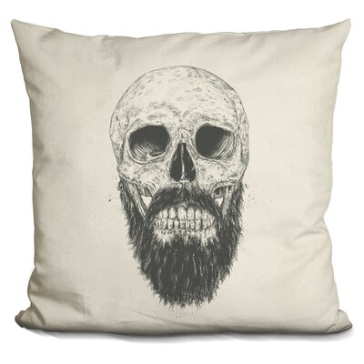 Payeur the Beard Is Not Dead Throw Pillow