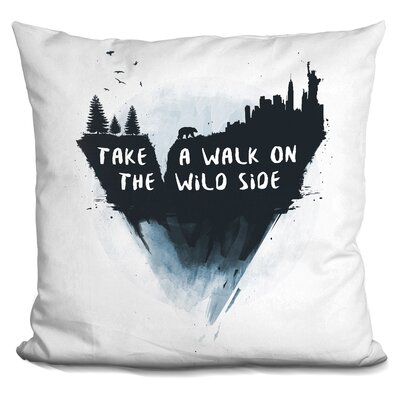 Peake Walk on the Wild Side Throw Pillow