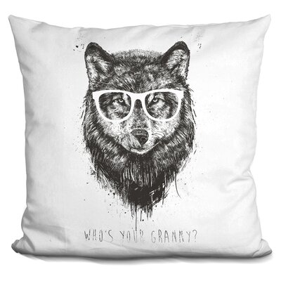 Hersey Whos Your Granny Throw Pillow Color: Black
