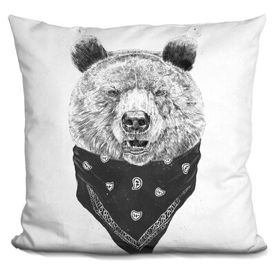 Hershman Wild Bear Throw Pillow