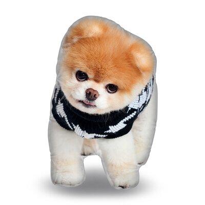 Knit Boo Throw Pillow