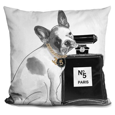 Leave Us Alone Frenchie Throw Pillow