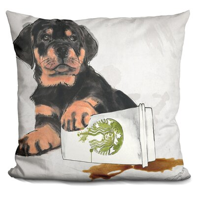 Oops Rottweiler Throw Pillow
