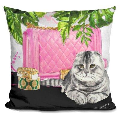 Glenwood Scottish Fold Bag Throw Pillow