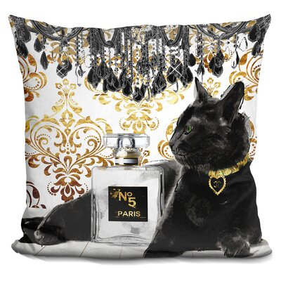 Core Cat Perfume Bottle Throw Pillow