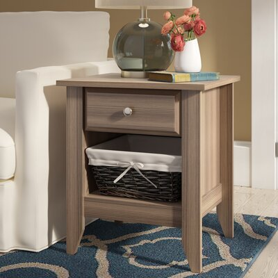 Revere 1 Drawer Nightstand Color: Diamond Ash