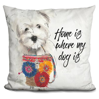 Home Is Where My Dogs Is Throw Pillow