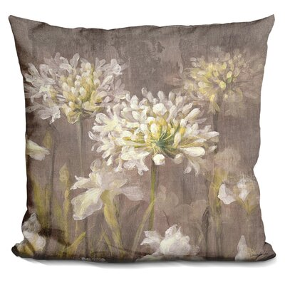 Gast Blossoms Neutral Throw Pillow
