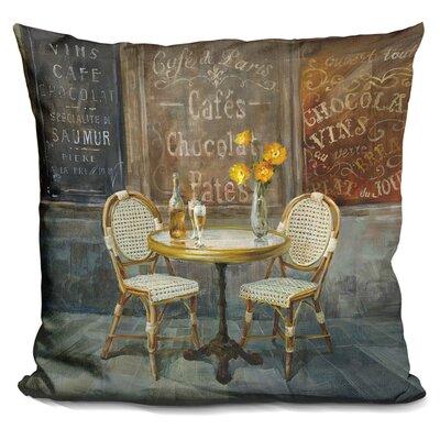 Juan French Cafe Throw Pillow