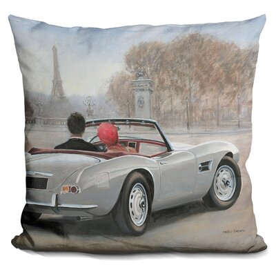 Gilpin Ride in Paris Throw Pillow