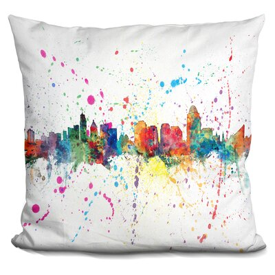 Peart Cincinnati Ohio Throw Pillow