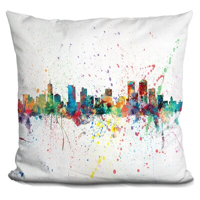 Peasley Denver Colorado Throw Pillow