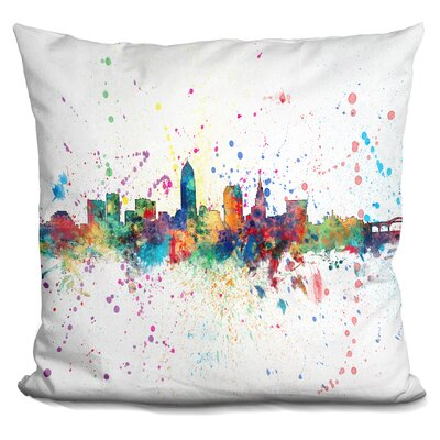 Peavler Cleveland Ohio Throw Pillow
