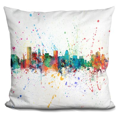 Peavy Baltimore Maryland Throw Pillow