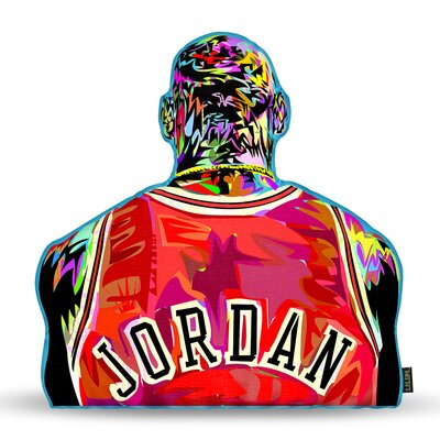 Jordan Back Throw Pillow