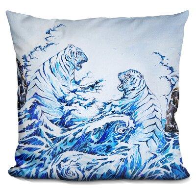 The Crashing Waves Throw Pillow
