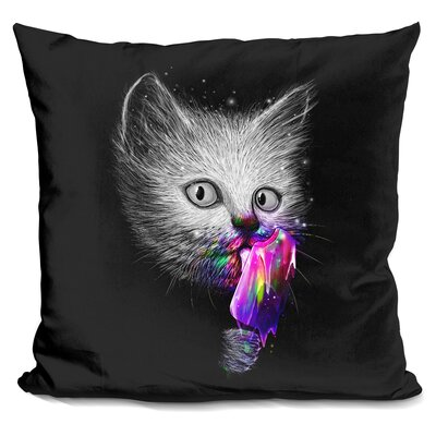 Slurp Throw Pillow Color: Black/Gray
