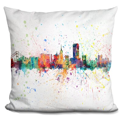 Harnden San Francisco City Throw Pillow