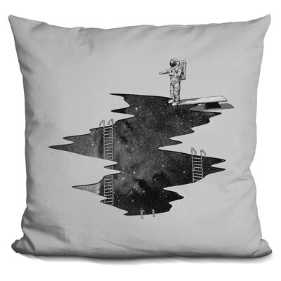 Space Diving Square Throw Pillow