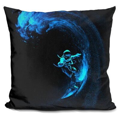 Space Throw Pillow Color: Black/Blue