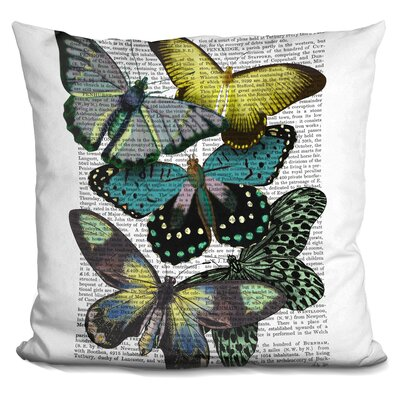 Peele Big Bold Butterflies Throw Pillow