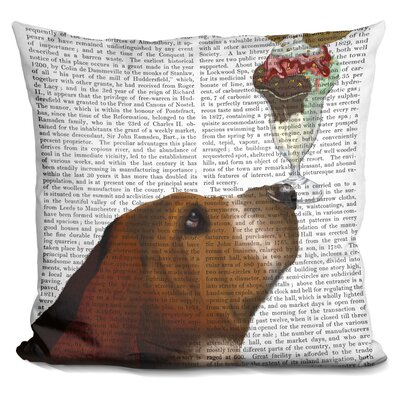 Peeples Basset Hound Ice Cream Throw Pillow