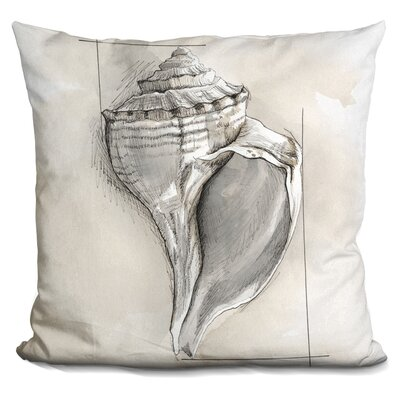 Camuto Shell Schematic Throw Pillow