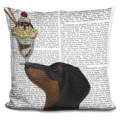 Coreopsis Dachshund and Ice Cream Throw Pillow