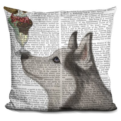 Husky Ice Cream Throw Pillow