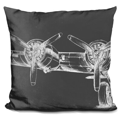 Chairez Graphic Plane Triptych Throw Pillow