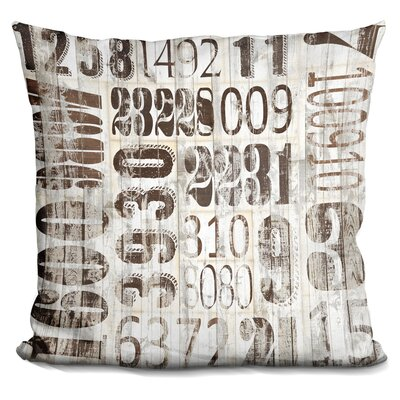 Gent Weathered Numbers Throw Pillow