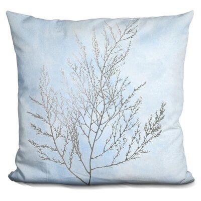 Jaworski Silver Foil Algae Throw Pillow Color: White