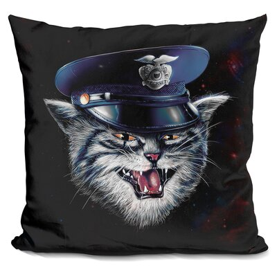 Police Cat Throw Pillow