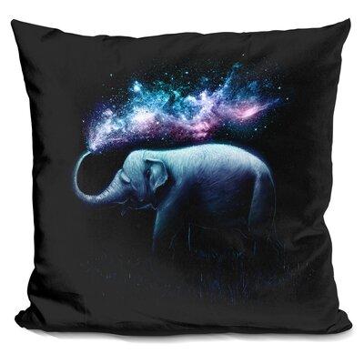 Elephant Throw Pillow Color: Blue