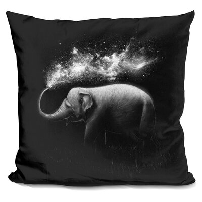 Elephant Throw Pillow Color: White