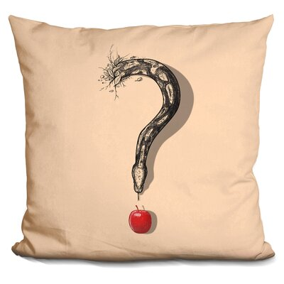 Curious Temptation Throw Pillow