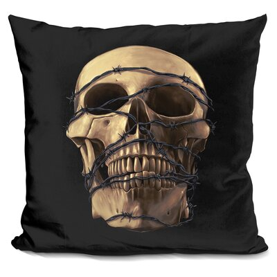 Prisoner Throw Pillow Color: Gold/Black
