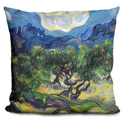 Olive Trees with The Alpilles I Throw Pillow